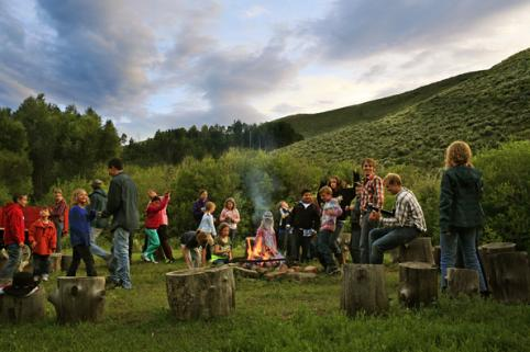 Kids Campfire and Hayride at Drowsy Water Ranch