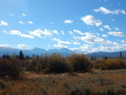 Fall view of the meadow and resort