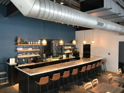 Full bar and restaurant.