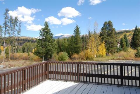 4 Bedroom unit has huge private deck with Continental Divide views