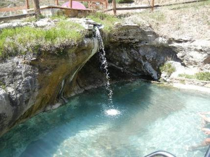 Relax in our soothing mineral hot springs
