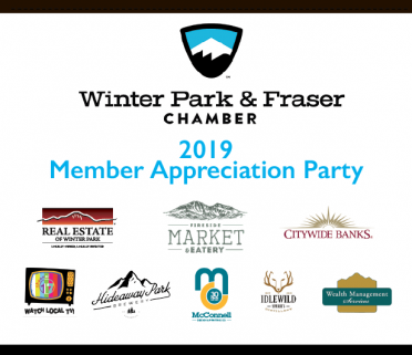 Membership Appreciation Party 2019 sponsors Membership Appreciation Party: McConnell Design & Printing; Fireside market; citywide bank; real estate of winter park; Channel 17; Wealth Management Services; Idlewild Spirits; Hideaway Park Brewery