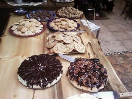 a dessert buffet!