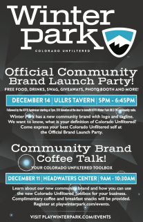 branding launch events: Coffee Talk and Official Community Brand Launch Party