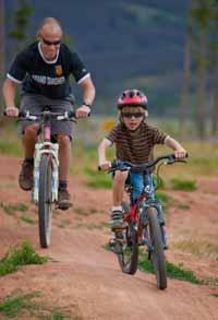 Rent some mountain bikes and explore our trails