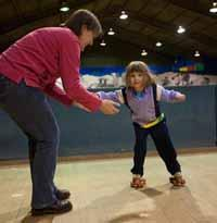 Rollerskating is available in our indoor gym