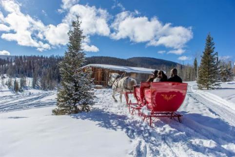 Call to reserve a private ride in our One-Horse-Open Sleigh