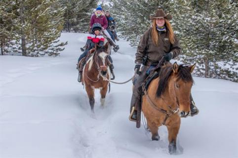 Horseback in winter- a whole new adventure!