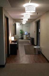 Newly remodeled back lobby