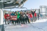 Guests celebrate Opening Day at Winter Park.