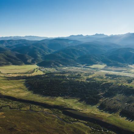Scenic Aerial Shot of Winter Park, Colorado