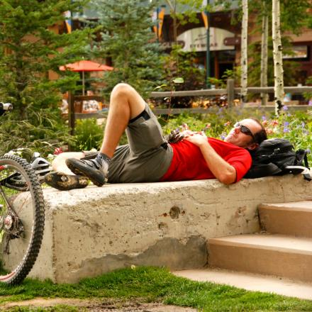 Stay overnight at mountain biking all day in Winter Park, Colorado