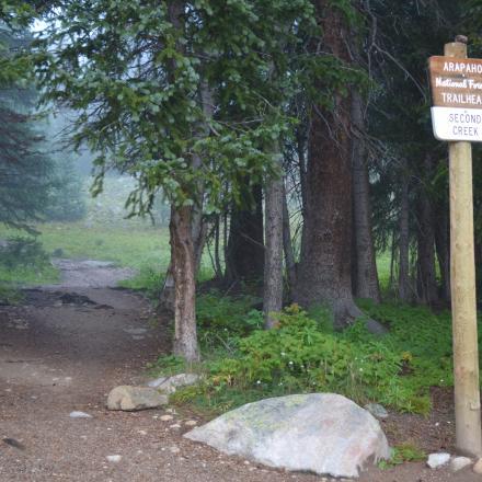 Second Creek Trailhead in Winter Park, Colorado