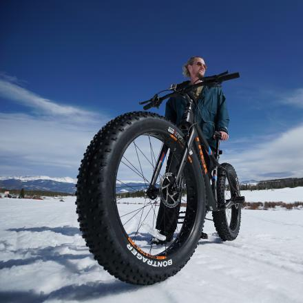 Fat Biking at Snow Mountain Ranch near Winter Park, Colorado