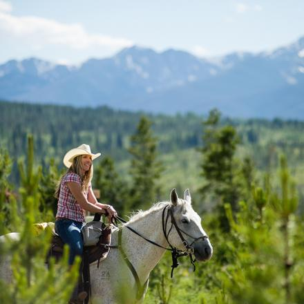 Horseback Riding in the Rocky Mountains near Winter Park, Colorado