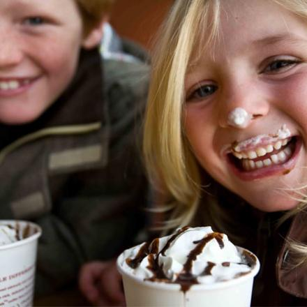 Kids Drinking Hot Chocolate