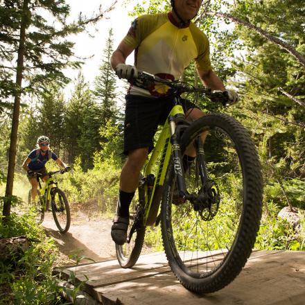 Cross Country Mountain Biking in Winter Park, Colorado