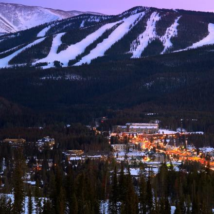 Winter Park, Colorado at Night