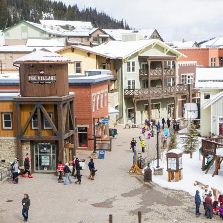 Shopping and Dining at the Village at Winter Park Resort in Winter Park, Colorado