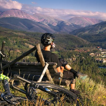 Summer Mountain biking in Winter Park, Colorado