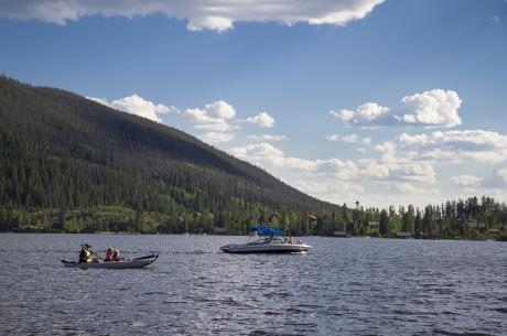 Boating on Colorado's Largest Natural Lake near Winter Park, Colorado
