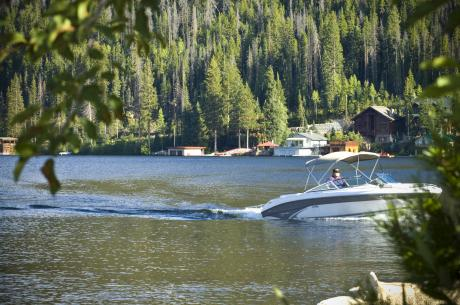 Boating on Grand Lake near Winter Park, Colorado