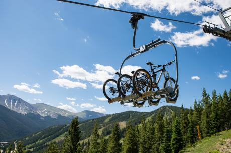 Chair lift at Trestle Bike Park at Winter Park Resort