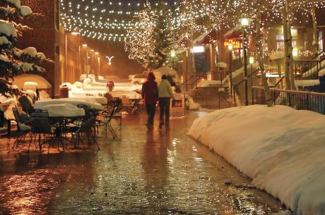 Winter Shopping at Cooper Creek Square in Winter Park, Colorado