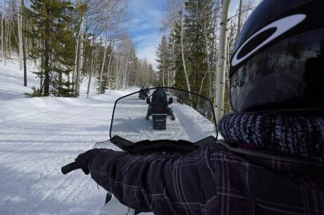 Snowmobile guided tours near Winter Park, Colorado