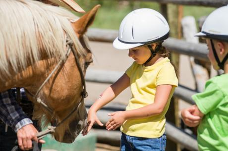 Horseback riding at Devil's Thumb Ranch near Winter Park