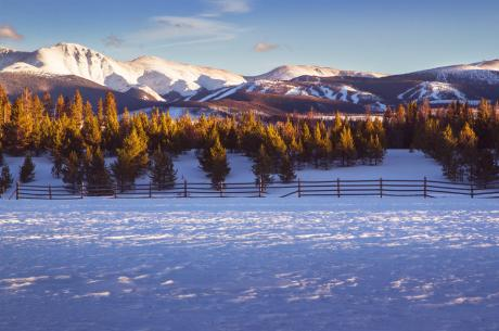 Winter Scene in Winter Park, Colorado