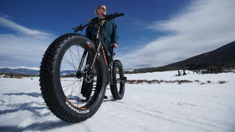 Fat Biking at Snow Mountain Ranch near Winter Park, Colorado