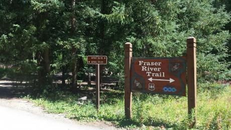 Fraser River Bike Trail at Idelwild Campground in Winter Park