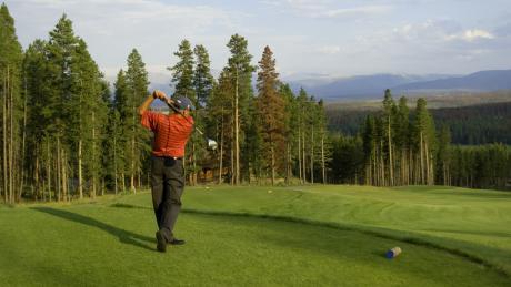 Tee off at Pole Creek Golf Course near Winter Park, Colorado