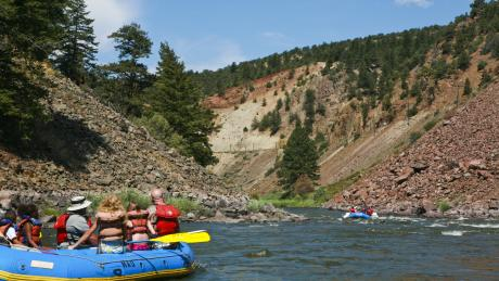 White Water Rafting on the Colorado River near Winter Park, Colorado