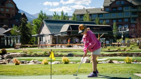 Slopeside Putting Course at Winter Park Resort