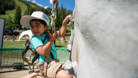 Auto-Belayed Climbing Wall at Winter Park Resort in Colorado