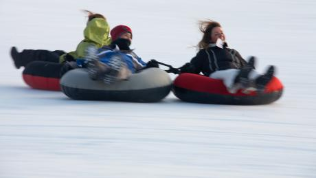 Tubing in Winter Park, Colorado