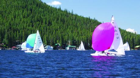 Boating on Lake Granby Near Winter Park, Colorado