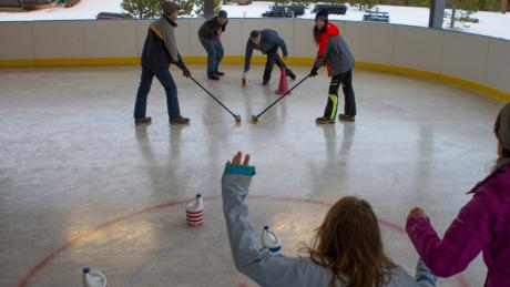 Broomball at Snow Mountain Ranch
