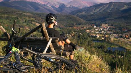 Summer Mountain biking in Winter Park, Colorado